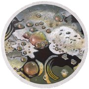 Bubble, Bubble, Toil And Trouble 2 Round Beach Towel