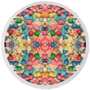 Round Beach Towel featuring the digital art Bubble Gum #9776 by Barbara Tristan