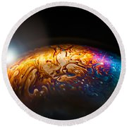 Bubble Planet I  Round Beach Towel by Maggie Terlecki