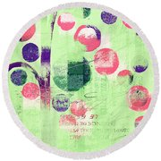Round Beach Towel featuring the photograph Bubble Tree - 224c33j5r by Variance Collections