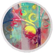 Round Beach Towel featuring the painting Bubble Tree - 285l by Variance Collections