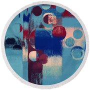 Round Beach Towel featuring the painting Bubble Tree - 85l-j4 by Variance Collections