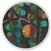 Bubble Tree - Spc02bt05 - Left Round Beach Towel