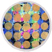 Bubble Wrap Print Poster Huge Colorful Pop Art Abstract Robert R Round Beach Towel