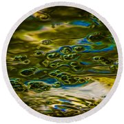 Bubbles And Reflections Round Beach Towel by Marvin Spates