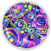 Bubbly Round Beach Towel