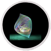 Bubbles Round Beach Towel