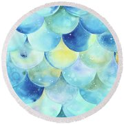 Bubbles Round Beach Towel by Stephanie Troxell