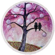 Bubbletree Round Beach Towel