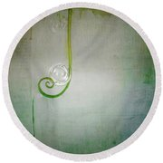 Round Beach Towel featuring the digital art Bubbling -  S24aabbcc by Variance Collections