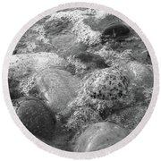 Bubbling Stones Round Beach Towel