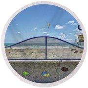 Buccaneer Beach Round Beach Towel by Ann Patterson