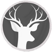 Buck Deer Round Beach Towel