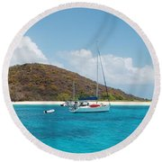 Buck Island Reef National Monument Round Beach Towel