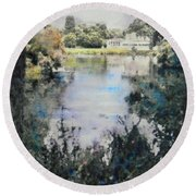 Buckingham Palace Garden, London  Round Beach Towel