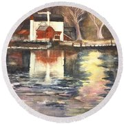 Bucks County Playhouse Round Beach Towel by Lucia Grilletto