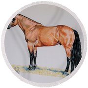 Buckskin Beauty Round Beach Towel by Cheryl Poland