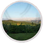 Bucolic Vinales I Round Beach Towel