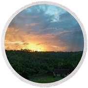 Bucolic Vinales Round Beach Towel