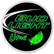 Bud Light Lime Re-edited Round Beach Towel