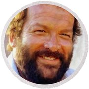 Bud Spencer Round Beach Towel