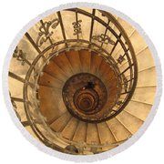 Budapest Staircase Round Beach Towel