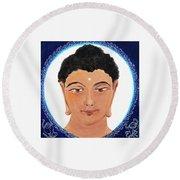 Buddha 111 Round Beach Towel