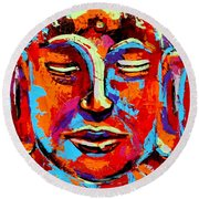 Buddha 2 Round Beach Towel