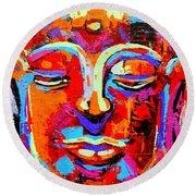 Buddha 3 Round Beach Towel