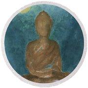 Buddha Abstract Round Beach Towel