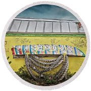 Buddha Round Beach Towel by Jerry Golab