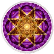 Buddha Mandala Round Beach Towel by Sue Halstenberg