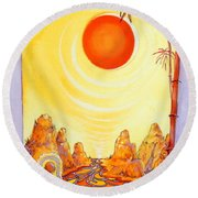 Buddha Meditation Round Beach Towel