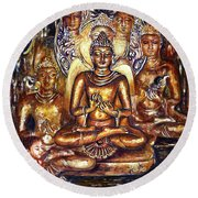 Buddha Reflections Round Beach Towel