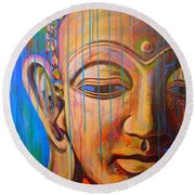 Buddha's Tears Round Beach Towel