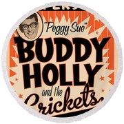 Buddy Holly Round Beach Towel