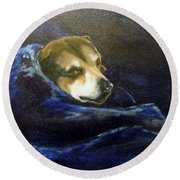 Buddy Rest In Peace Round Beach Towel