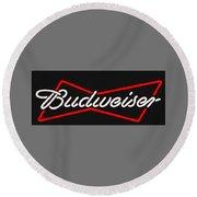 Budweiser T-shirt Round Beach Towel