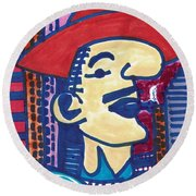 Round Beach Towel featuring the mixed media Buenos Aires Casanova by Don Koester