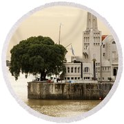 Buenos Aires Lighthouse Round Beach Towel