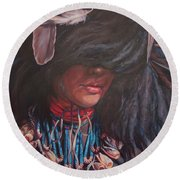 Buffalo Dancer Round Beach Towel
