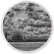 Buffalo Lighthouse 8111 Round Beach Towel