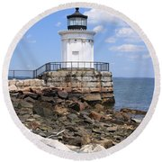 Bug Lighthouse Round Beach Towel