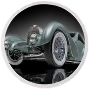 Bugatti Aerolithe Recreation Round Beach Towel