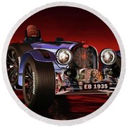 Bugatti Type 33 Round Beach Towel