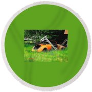 Bugsy Round Beach Towel by Sadie Reneau