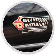 Buick Grand National Emblem Round Beach Towel