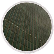 Round Beach Towel featuring the photograph Building 4 by Anne Kotan