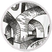 Buildings 1 2015 - Aceo Round Beach Towel