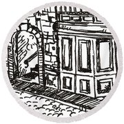 Buildings 2 2015 - Aceo Round Beach Towel